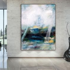 Large Wall Art Extra Large Abstract Painting Gold Canvas image 1 Large Abstract Wall Art, Large Painting, Gold Canvas, Canvas Art, Original Paintings, Original Art, Colorful Artwork, Extra Large Wall Art, Office Wall Art