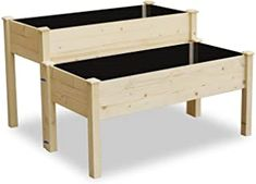 Enjoy exclusive for LYNSLIM Wooden 2 Tiers Elevated Raised Garden Bed Planter Box Flower Vegetable Grow, Natural Cedar Wood Frame Gardening Planting Bed,Easy Assembly Tiers Raised Beds) online - Thechicfashionideas Wooden Raised Garden Bed, Elevated Garden Beds, Raised Planter, Raised Beds, Cedar Planters, Planter Boxes, Outdoor Planters, Succulents Garden, Planting Flowers