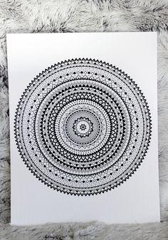 Mandala Art, Mandala Wall Art, Personalized Artwork Mandala Doodle, Mandala Art Lesson, Mandala Artwork, Doodles Zentangles, Mandala Drawing, Zen Doodle, Doodle Art, Mandala Coloring Pages, Art N Craft