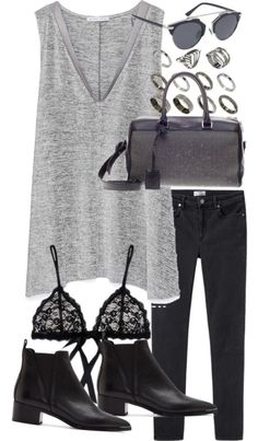 Untitled #17825 by florencia95 featuring black leather handbags