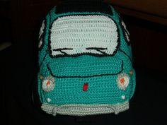 Fiat 500L Fiat 500l, Crochet Car, Vw Camper, Beanie, Ideas, Amigurumi, Beanies, Thoughts, Beret