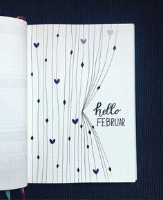 Over 33 simple ideas for the Bullet Journal to simplify your daily business . - Over 33 Simple Ideas for the Bullet Journal to Simplify Your Daily Activities – Inspiration – # - Bullet Journal Simple, Bullet Journal Spreads, February Bullet Journal, Bullet Journal Cover Page, Bullet Journal 2020, Bullet Journal Aesthetic, Bullet Journal Notebook, Journal Covers, Bullet Journal Inspiration