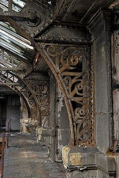 Crumbling arches.