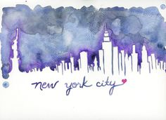New York City Skyline Print  Hurricane Sandy by TiffanyPelczART, $20.00