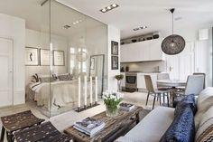 Αξιοποίηση παλιού διαμερίσματος-studio 34 m², με σύγχρονο στιλ και έξυπνες ιδέες, στη Στοκχόλμη.