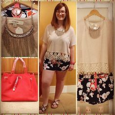 SnapWidget | Today's #ootd is brought to you by the warm weather and vendors at #thecottonco! Pictured: silver #statementnecklace from #creativegifts by Mary White, off white top with flower fringe from @elizaashboutique, navy floral #shorts from @elizaashboutique, bright red orange #handbag from #wrapsofstyle, #anchor watch from #surcee, and silver skinny #bangle from #crystalcreekjewelry. All products are available NOW at #thecottonco! Grab your favorites before they're gone…