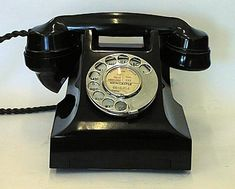 All telephones looked like this and were usually kept in the hall. We didn't have one until the '60s, and by then they were less chunky and came in cream!