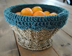 Crochet Basket Liner pattern by Heather McMichael