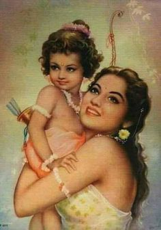 Kaushalyā and baby Rama