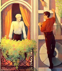 Harry Potter Feels, Draco Harry Potter, Harry Potter Draco Malfoy, Harry Potter Ships, Harry Potter Drawings, Harry Potter Anime, Drarry Fanart, Mermaid In Love, Captive Prince