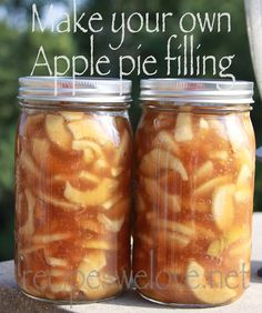 DIY -Apple Pie Filling Seriously the Best Apple Pie Filling ever! Not to sweet not to tart it's just PERFECT! Once you've tasted this nothing else will do!