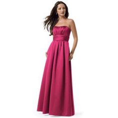 2a9fc8c62 Bridesmaid/Prom -- Pink Satin Dress Davids Bridal Bridesmaid Dresses, Wedding  Bridesmaids,