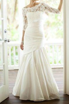 Perfect winter wedding dress!