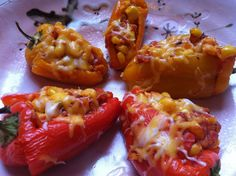 Corn and Cheese Stuffed Sweet Peppers | Cooking with a Wallflower