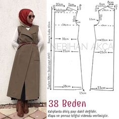 This post was discovered by ja Coat Patterns, Dress Sewing Patterns, Clothing Patterns, Abaya Pattern, Bodice Pattern, Dress Tutorials, Sewing Tutorials, Fashion Sewing, Diy Fashion