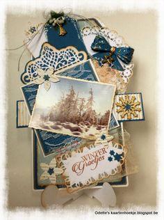 Odette's kaartenhoekje: Winter groetjes ....