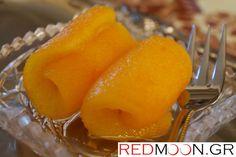 Easy Desserts, Dessert Recipes, Orange Jam, Preserves, Food Videos, Cantaloupe, Food To Make, Deserts, Pudding