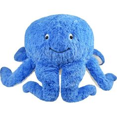 It's the Squishable Blue Octopus! Finally a cool dude with 8 arms to hold eight plates of nachos while you chill on the couch! #squishable #plush #newrelease