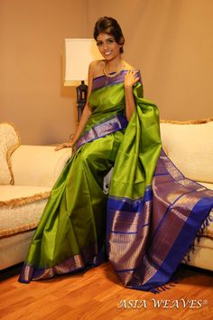 A traditional kanchivaram that never goes out of fashion - timeless appeal.