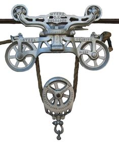 antique hay pulley | Hay Carrier and Lift Pulley Display Clears Confusion
