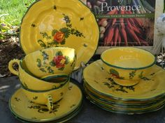 French Country pottery set