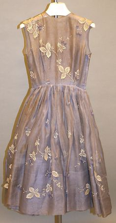 1952 – 1957 American Cotton Cocktail Dress