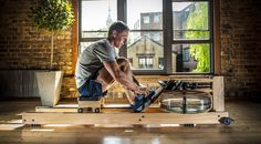 Water Rower's beautiful designs match our wooden floorboards harmoniously!