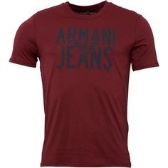 Armani Jeans Mens Crew Neck Logo T-Shirt Bordeaux Armani Jeans short sleeve crew neck tee. http://www.MightGet.com/february-2017-2/armani-jeans-mens-crew-neck-logo-t-shirt-bordeaux.asp