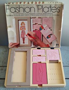 Tomy Fashion Plates - 1978 No. 2508 - Vintage Designer Toy