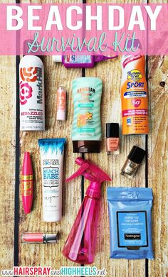 A jam packed Beach Day Survival Kit with all of the necessities you need for summer vacation! Use Walgreens Paperless Coupons to save big at the store! Summer Goals, Summer Of Love, Summer Fun, Summer Time, Summer Snacks, Diy Spring, Cadeau Surprise, I Need Vitamin Sea, All I Ever Wanted