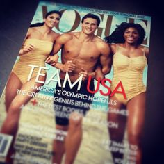 The best thing about the VOGUE Summer Olympics cover? Muscles on the cover. #fitisthenewskinny