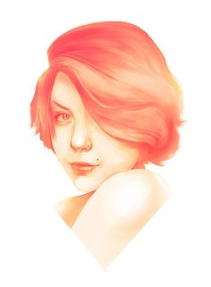 Digital Watercolour Style Woman Portraits by Max Ivanoff on Creativitea