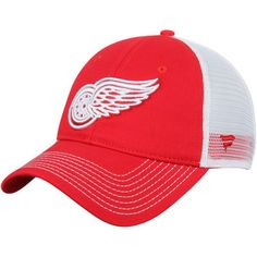 156aa65e00e Detroit Red Wings Core Trucker Adjustable Snapback Hat - Red