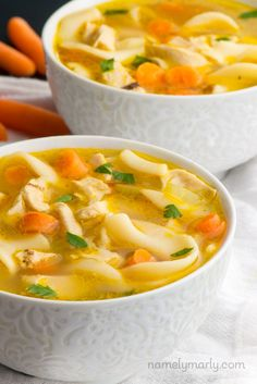 This easy vegan chicken noodle soup is made with minimal ingredients and tastes just like the real thing. Make it your go-to lunch or dinner meal!