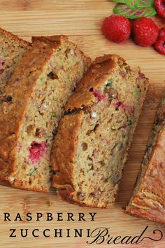 Whole Grain Raspberry Zucchini Loaf