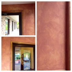 Beautiful texture! Terra cotta Tuscan plaster faux finish in commercial entryway. http://www.houzz.com/pro/creativepaintinganddesign