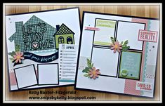 Scrapbook Layout Sketches, Card Sketches, Scrapbooking Layouts, Kiwi Lane Designs, Workshop Layout, Stencil Font, Book Catalogue, Close To My Heart, Pattern Paper