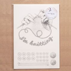 Collage Sketch Knitter A4 by ImagineAndDoHelsinki on Etsy, €11.90
