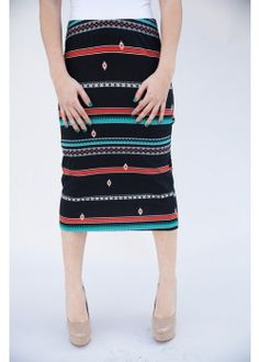 cf4760f86259 Southwest Dana Point Pencil Skirt · The Bashful Blossom Boutique · Online  Store Powered by Storenvy