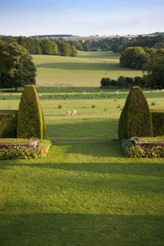 The view over the Sunken Garden to the Downs