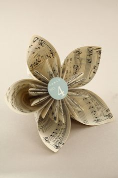 Tutorial on how to make Book Page Kusudama Flower  --  I think these would be beautiful make from starched fabric.