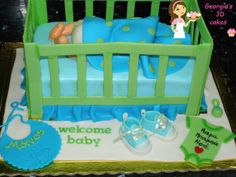 baby bottom and crib cake