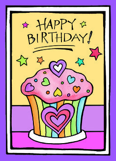 This colorful Zenspirations birthday design by Joanne Fink is a great way to wish someone special a Happy Birthday.