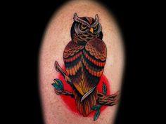 old school owl tattoo - Google zoeken