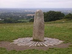 The Lia Fail (Stone of Destiny) on the Hill of Tara (Cnoc na Teamhrach), seat of the High Kings of Ireland