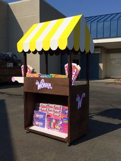 candy cart for Willy Wonka; mostly decorated with photoshopped candy packages