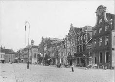 Groningen<br />De stad Groningen: Vismarkt zuidzijde gezien naar het oosten 1910