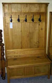 Rustic coat rack bench combo on Pinterest | Hall Trees, Deacons ...