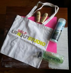 Self magazine Up 'N' Out Studio totebag workout bundle