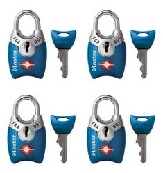 TSA Approved/Accepted Luggage Locks with Shrouded Shackle - Wide metal body. Shrouded design minimizes shackle exposure and protects against bolt cutter attacks. Transportation Security Administration (TSA) screeners can open, inspect and re-lock bags locked with a TSA Approved lock,
